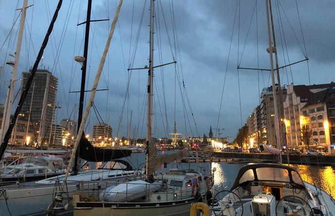 Oostende avondlicht